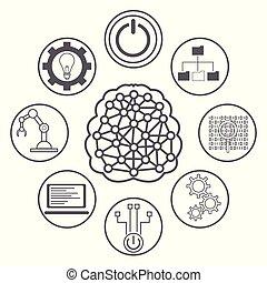 intelligenza artificiale, icone
