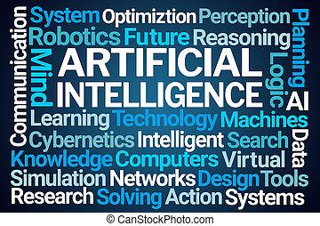 intelligenza artificiale, parola, nuvola