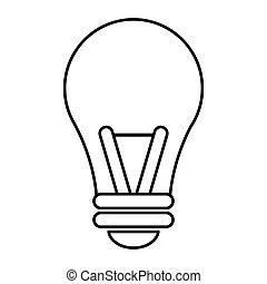 intelligenza, bulbo, idea, contorno, luce