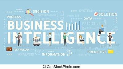 intelligenza, concept., affari