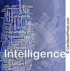 intelligenza, concetto, fondo