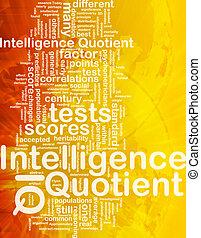 intelligenza, concetto, fondo, quotient