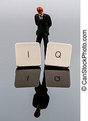 intelligenza, foto, simbolo, quotient