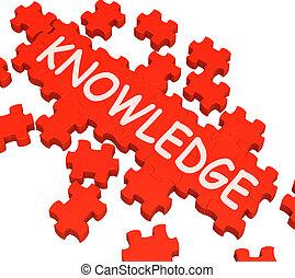 intelligenza, puzzle, esposizione, conoscenza, saggezza