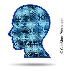 intelligenza, simbolo, umano, ricerca