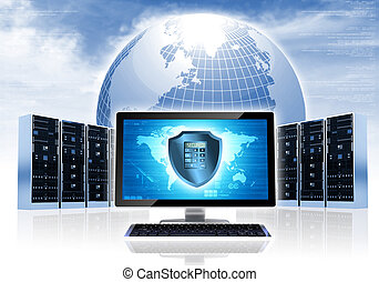 Intenet Security Network - Internet conceptual image. ...