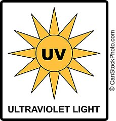 Intensity Ultraviolet Light Protect Your Eyes UV Vector...
