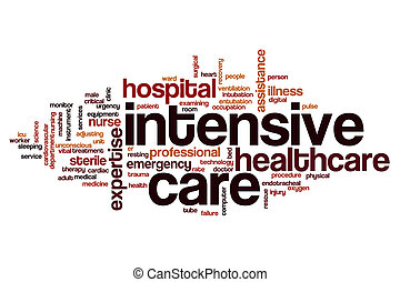 Intensive care word cloud