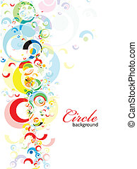 intensive rainbow colors circle