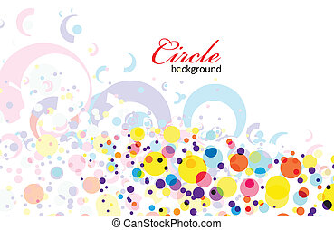 intensive rainbow colors circle background with eps8, vector illustration.