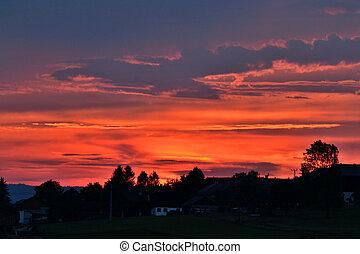intensives Abendrot - intense sunset