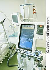 intensivo, monitor, unità, cura