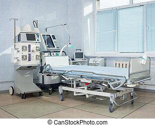 intensivpflegestation, bed., klinikum