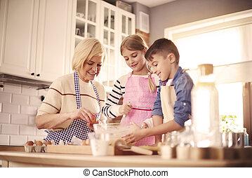 intention, chefs, conjugal, trois, cuisine