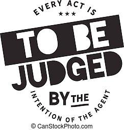 intention, giudicato