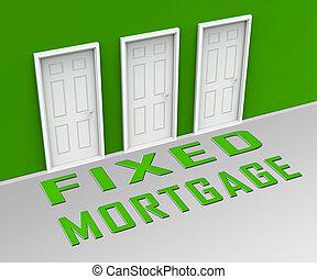 interés, hipoteca, -, tasa, ilustración, no, puerta, ...