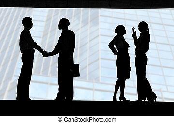 interacción negocio