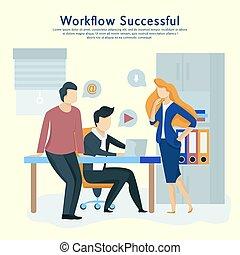 interact., 商業界人士, 工作, 通訊, 隊, 工作流程