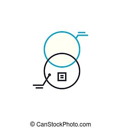 Interaction analysis vector thin line stroke icon. Interaction analysis outline illustration, linear sign, symbol concept.