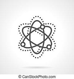 interaction, particule, simple, vecteur, modèle, ligne, icône