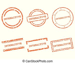 Interactive stamps