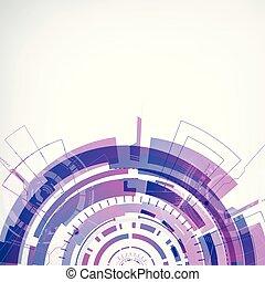 Interactive Technology Futuristic Concept