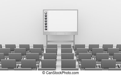 interactive whiteboard - one interactive whiteboard with...