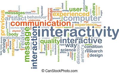 interactividad, concepto, plano de fondo