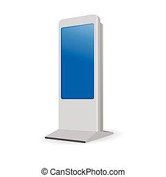 interattivo, informazioni, chiosco, terminale, stare in piedi