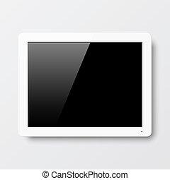 interattivo, parete, schermo tocco
