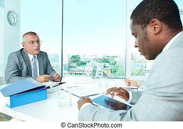interazione, affari