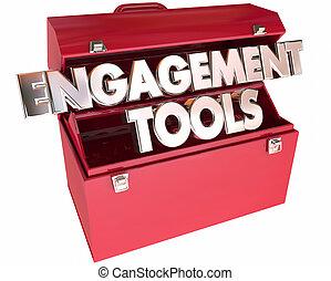 interazione, comunicazione, fidanzamento, parole, toolbox, attrezzi, partecipazione, 3d
