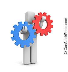 interazione, o, concorrenza, metafora
