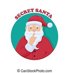 intercambio, anónimo, santa, navidad, alegre, santa., ceremonia, chris, kindle., misterioso, regalo, secreto