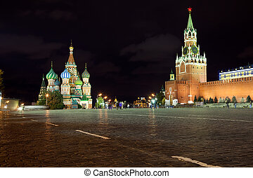 Red Square in Moscow. Russia - Intercession Cathedral and ...