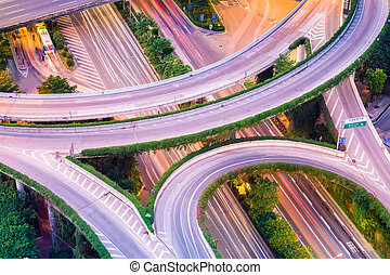 interchange closeup