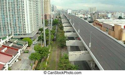 Interchange with Highway and railway in Manila. - Highway...