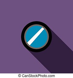 Interchangeable camera lens icon, flat style