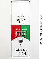 Intercom for emergency communication in a subway car
