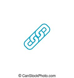 Interconnection linear icon concept. Interconnection line vector sign, symbol, illustration.