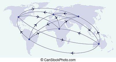 intercontinentale, voli, passeggero