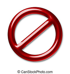 Interdiction symbol - Illustration of a red symbol of an...
