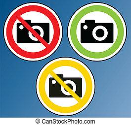 interdit, appareil photo