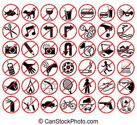 interdit, icônes
