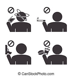 interdit, icons.