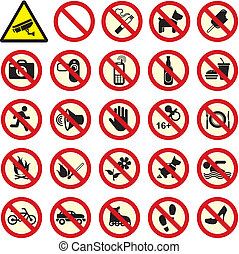 interdit, non, stop