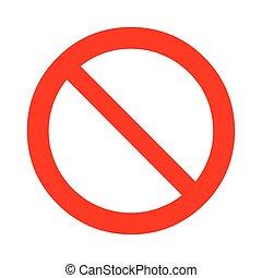 interdit, vecteur, signe., illustration, prohibition