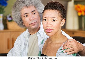 interessato, donna, coniuge