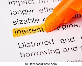 interesse, def