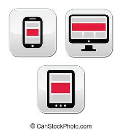 interessiert, design, für, web, -, berechnen